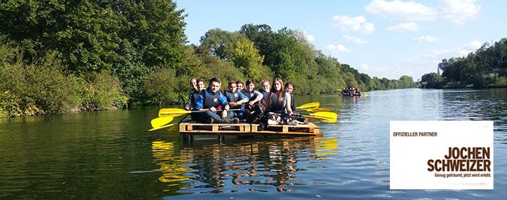 Floßbau Teamtraining bei MCK-Sports